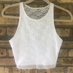 Abercrombie & Fitch White Lace Top!